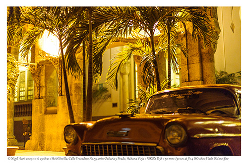 Havana - Classic Car near Trocadero