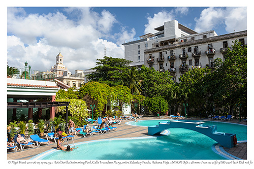 Hotel Sevilla - View of hotel swimming pool